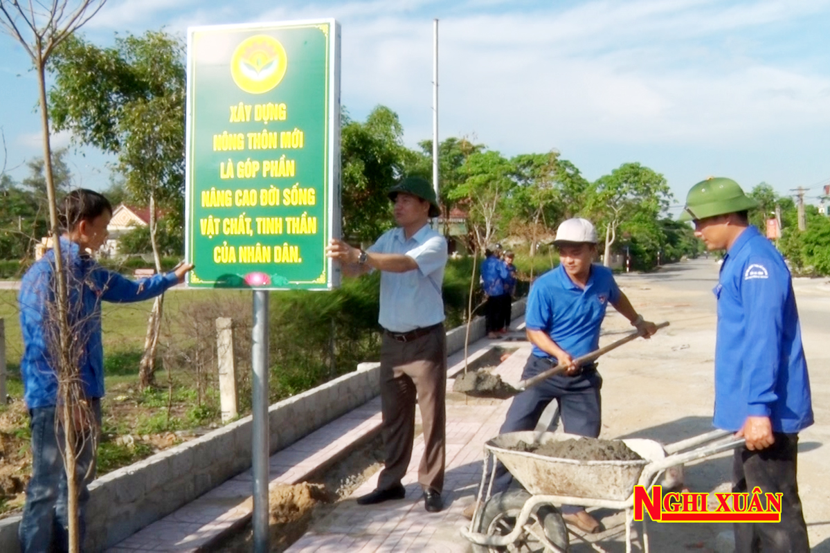 Nhiều hoạt động đền ơn đáp nghĩa, xây dựng nông thôn mới của tuổi trẻ Nghi Xuân