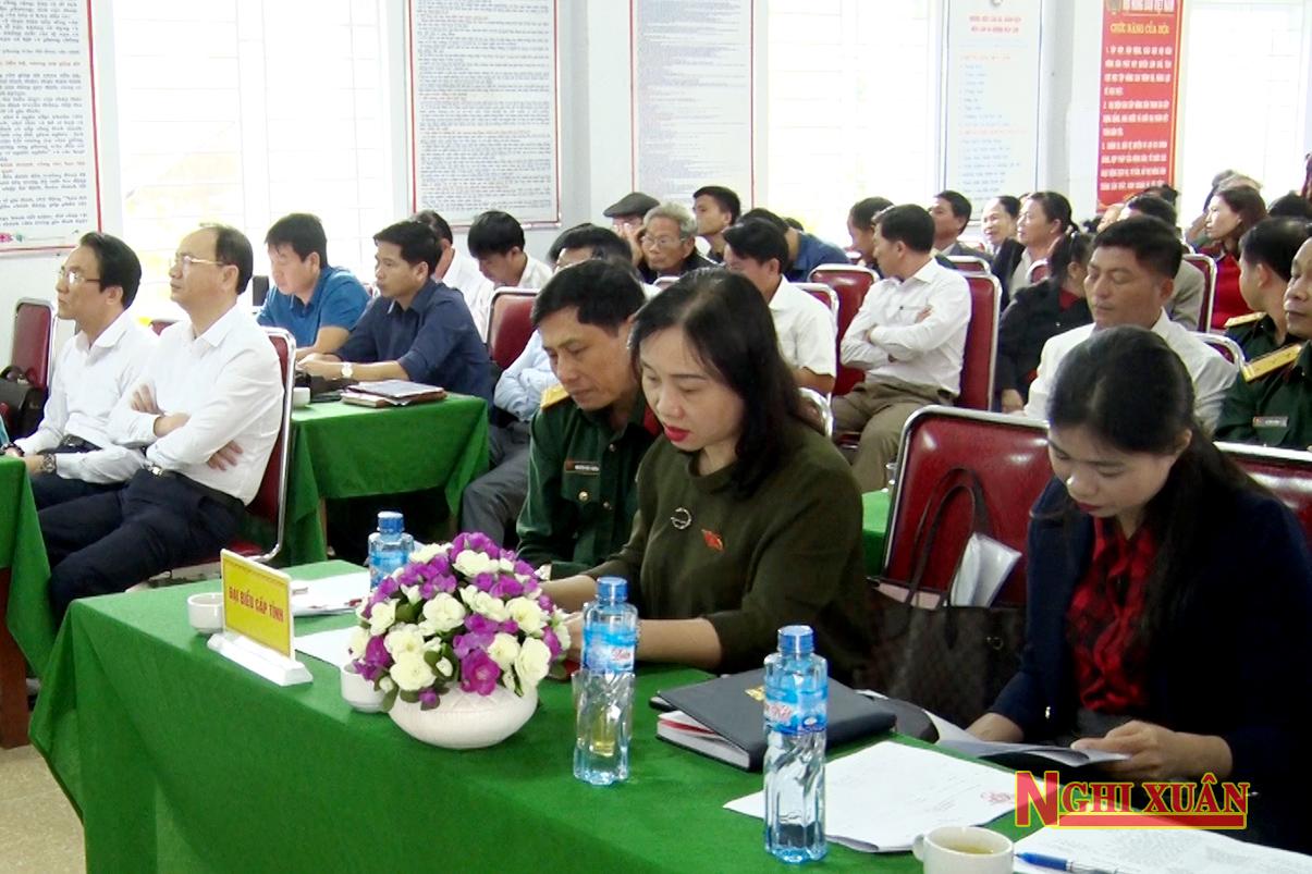 Cùng dự có Bí thư Huyện ủy Phan Tấn Linh, Chủ tịch UBND huyện Nguyễn Hải Nam cùng các đồng chí trong BTV Huyện ủy