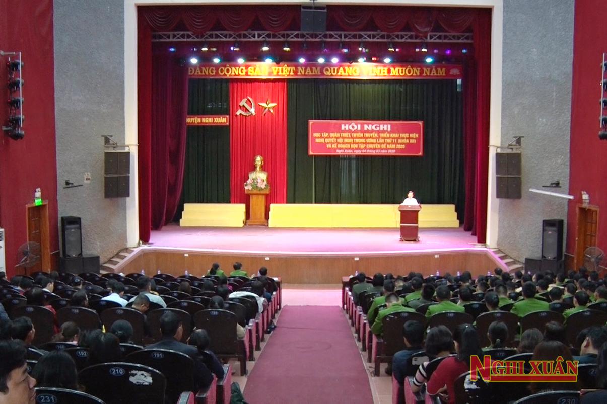 Quán triệt các nội dung Hội nghị Trung ương 11 khóa XII và kế hoạch học tập theo tư tưởng, đạo đức, phong cách Hồ Chí Minh chuyên đề năm 2020