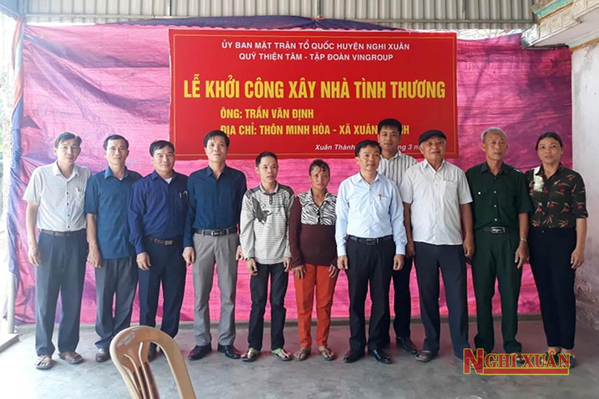 Tập đoàn Vingroup hỗ trợ gần 2,2 tỷ đồng xây nhà tình nghĩa cho hộ nghèo, cận nghèo ở Nghi Xuân