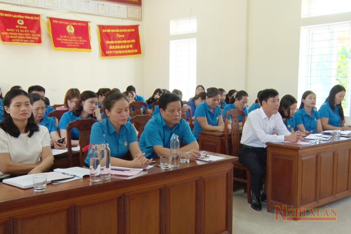 Liên đoàn Lao động Nghi Xuân sơ kết hoạt động 6 tháng đầu năm