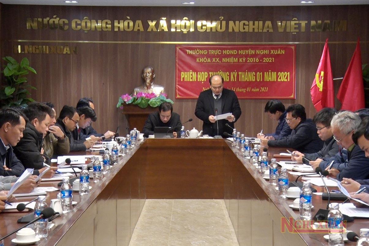 Chủ trì phiên họp có Phó Bí thư Thường trực Huyện ủy – Chủ tịch HĐND huyện Nguyễn Văn Hiếu, Phó Chủ tịch HĐND huyện Hoàng Hữu Hiệp.