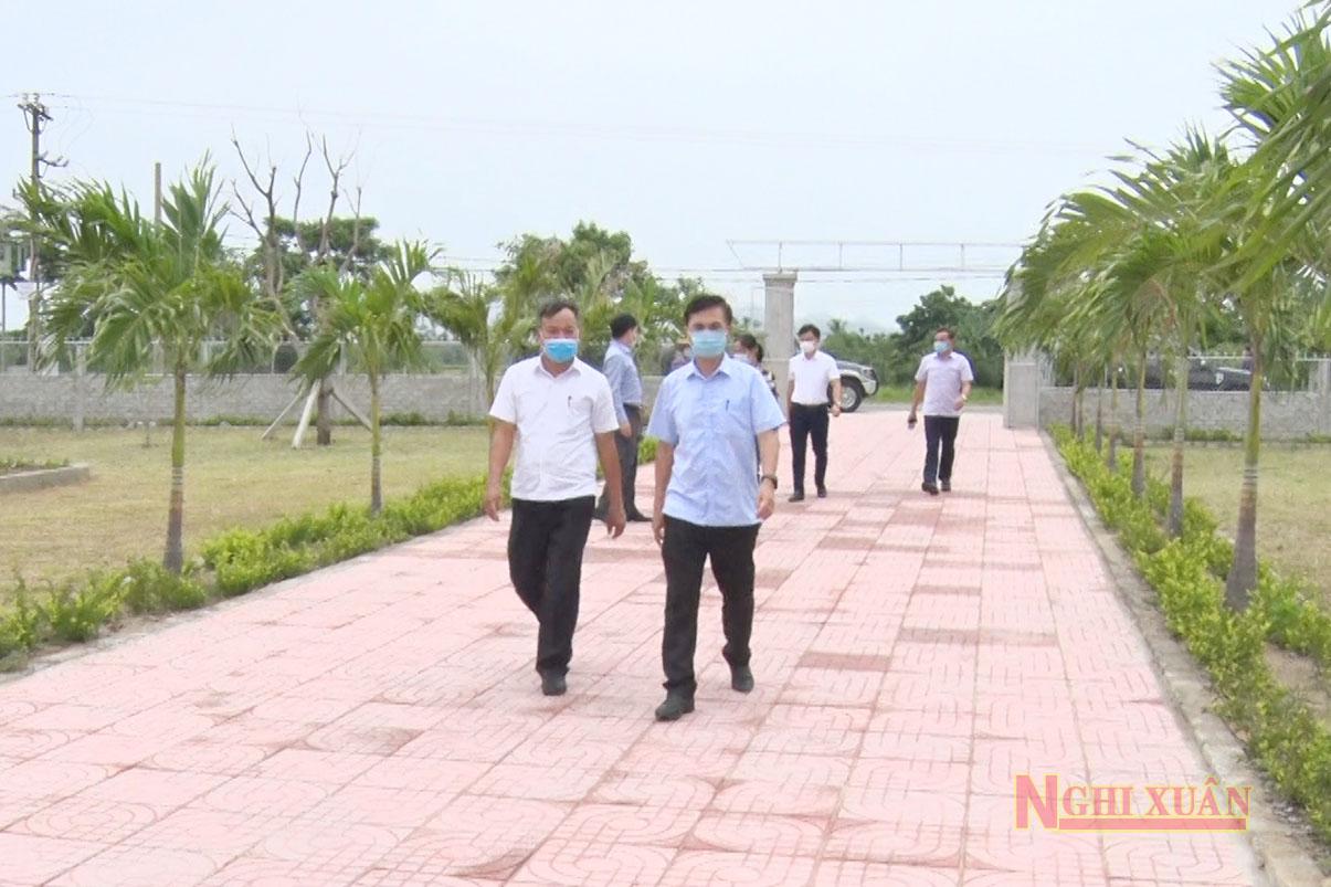 Văn phòng nông thôn mới Hà Tĩnh kiểm tra tiến độ xây dựng xã nông thôn mới kiểu mẫu tại Xuân Thành và Xuân Phổ