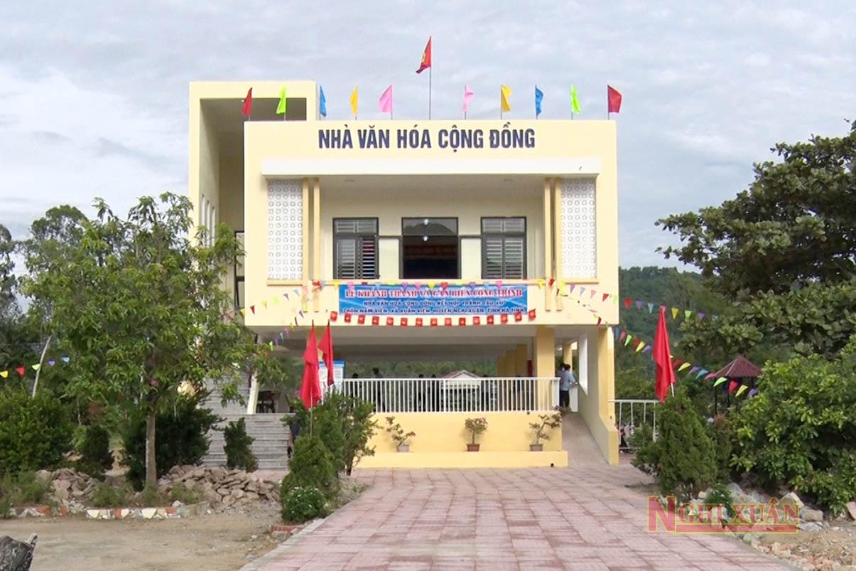 Khánh thành 2 nhà văn hóa cộng đồng kết hợp tránh bão, lũ tại Nghi Xuân
